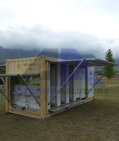 A first in the world! Using the best of American technology and combining it with South African ingenuity, we have created a portable ablution facility that can operate off-grid with minimal external input and nearly zero environmental impact